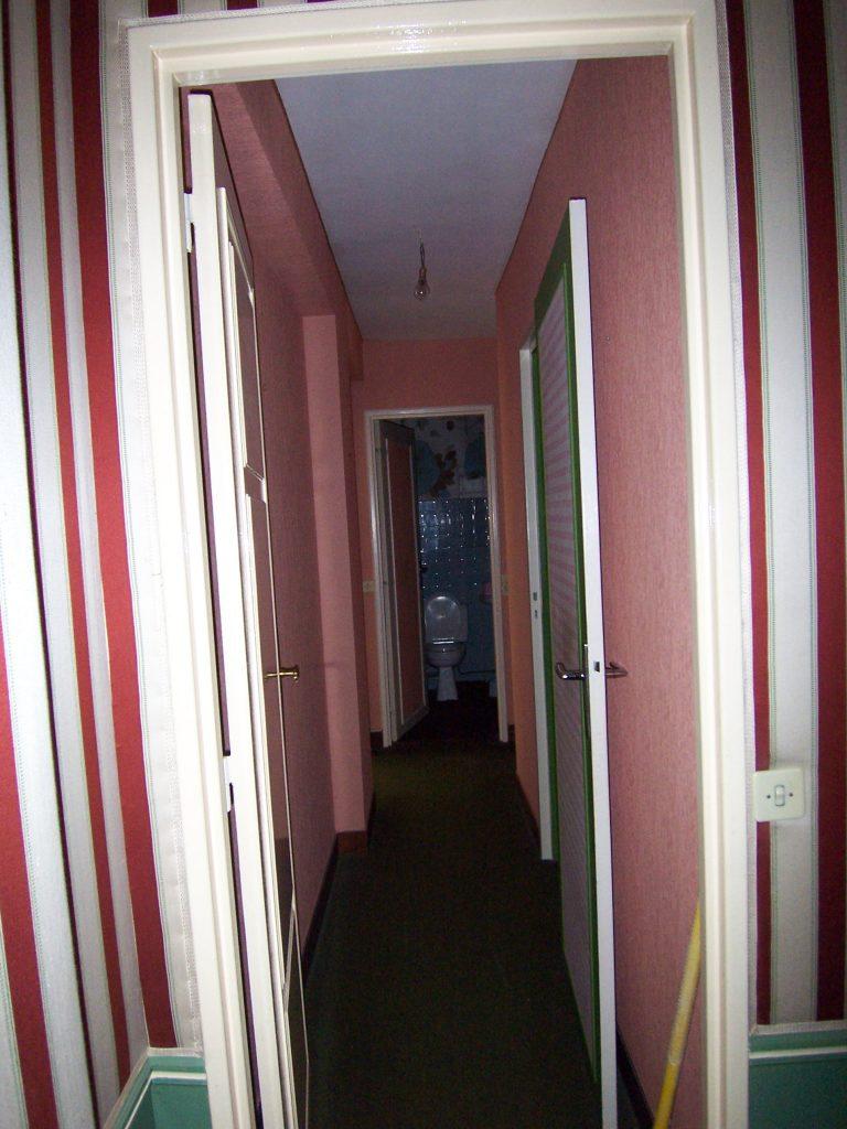 Le couloir avant travaux