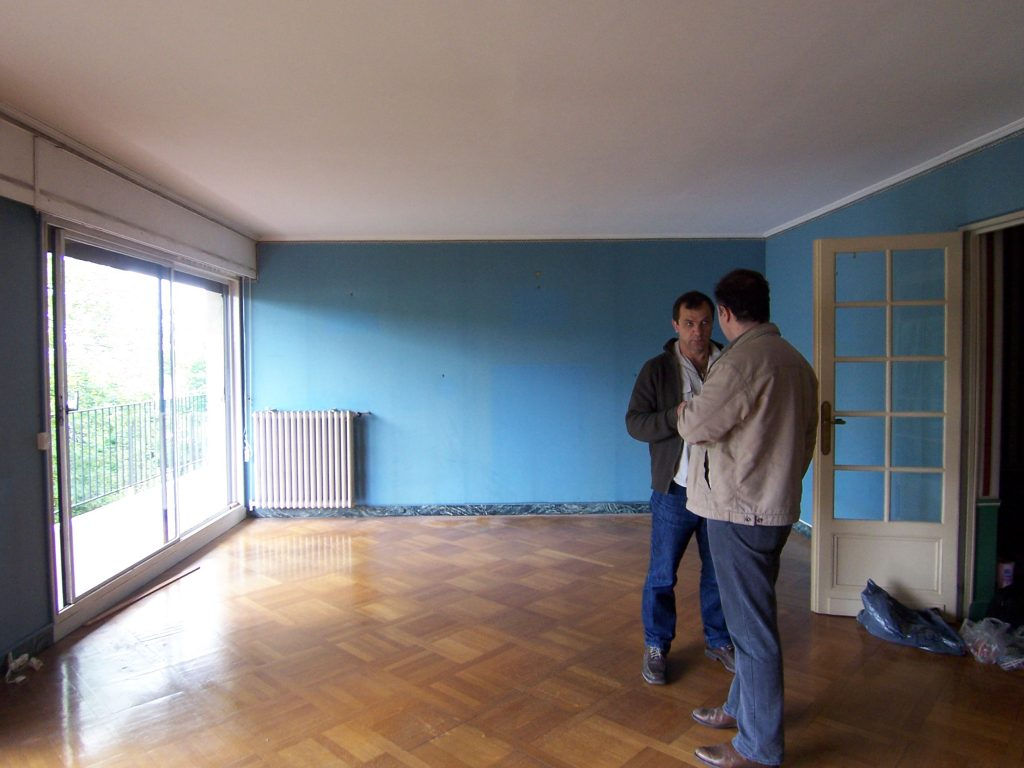 Le salon avant travaux