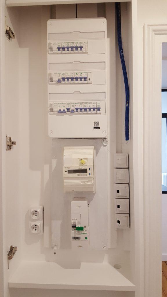 Installation d'un nouveau tableau électrique