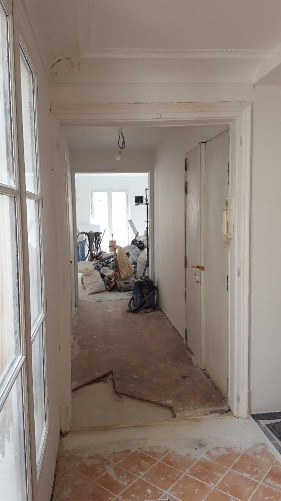 Couloir avant les travaux